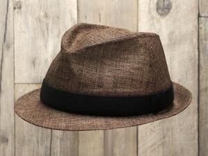 ペーパーブラウン中折れ帽子