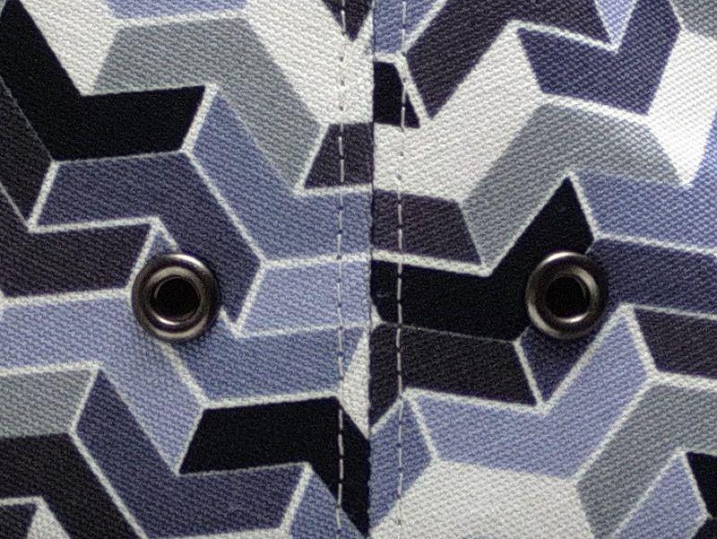 オックス幾何学プリント中折れハット9