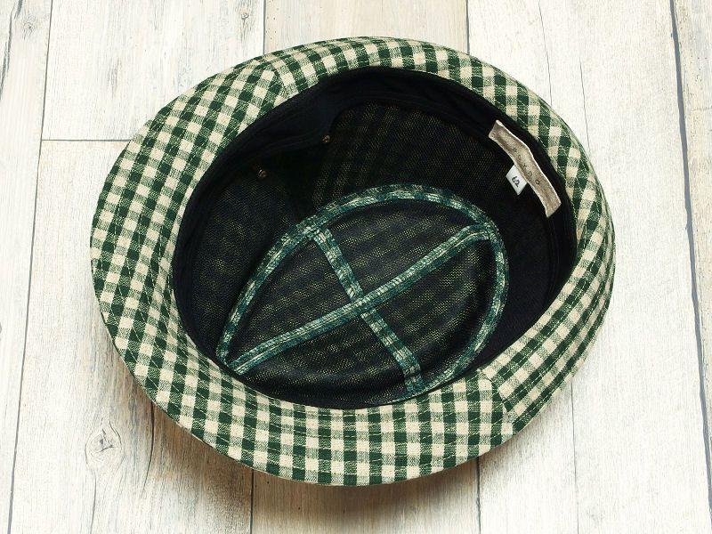 グリーンギンガム中折れ帽子7