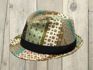 エスニック中折れ帽子