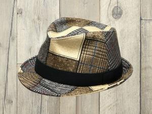 パッチワーク風中折れ帽子
