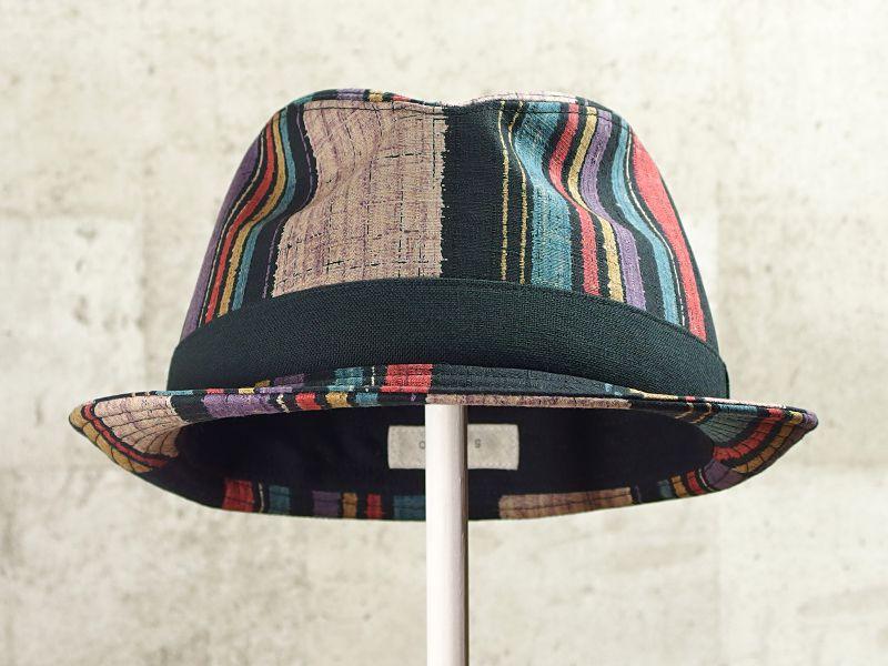 マルチストライプ中折れ帽子2