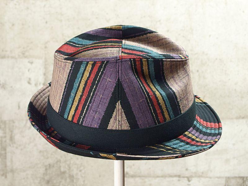 マルチストライプ中折れ帽子4
