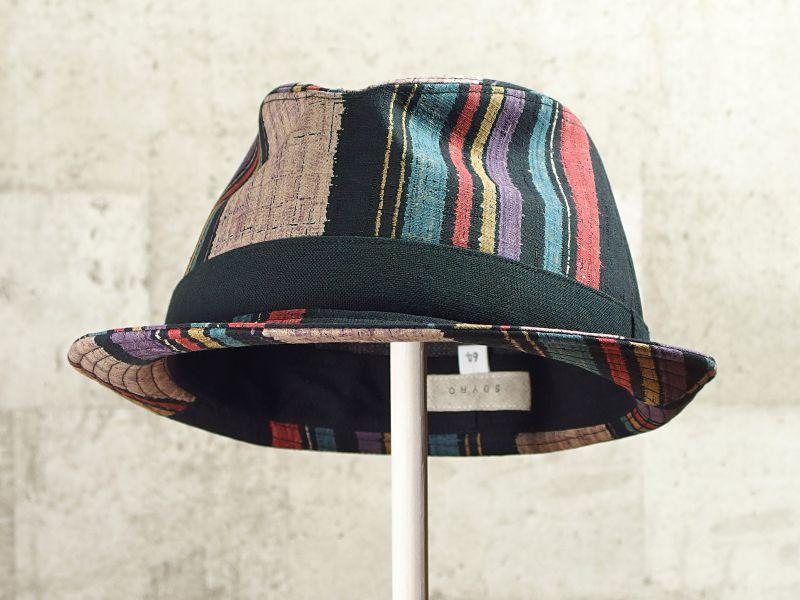 マルチストライプ中折れ帽子6