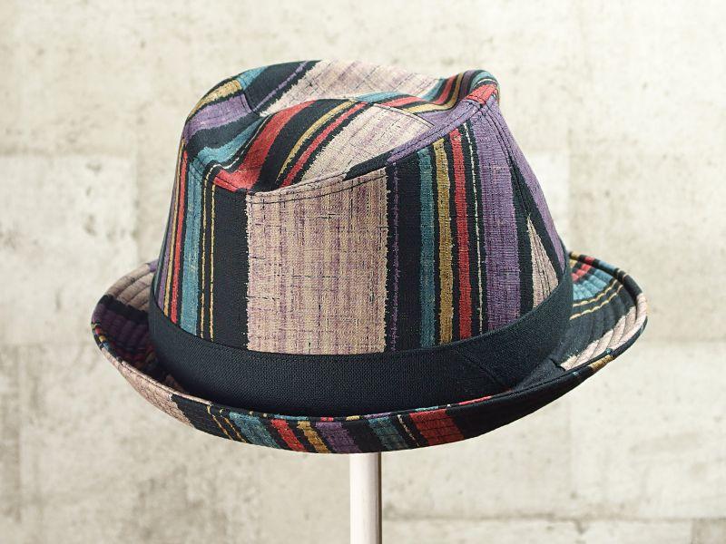 マルチストライプ中折れ帽子7