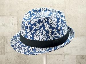 ブルーエレガント中折れ帽子