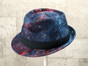 マーブル中折れ帽子