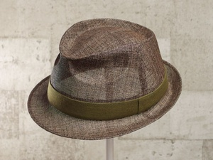 ブラウンペーパー中折れ帽子