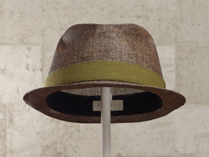 ブラウンペーパー中折れ帽子2