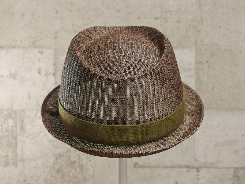 ブラウンペーパー中折れ帽子3