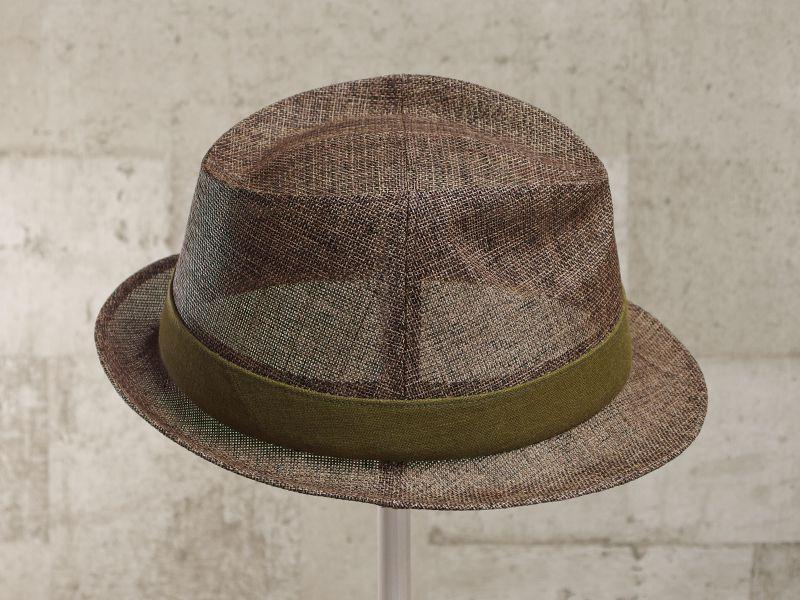 ブラウンペーパー中折れ帽子4