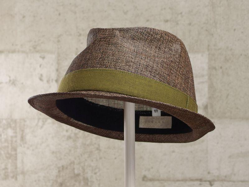 ブラウンペーパー中折れ帽子6
