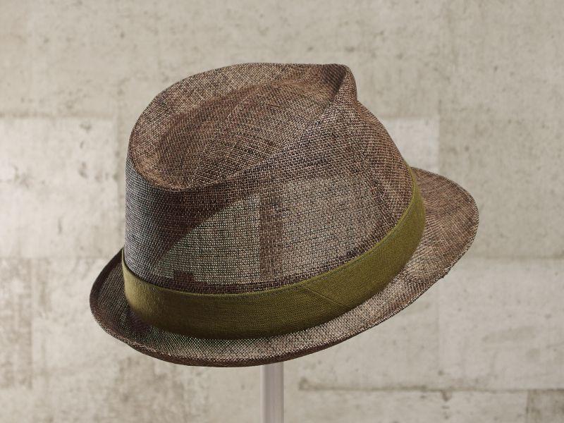 ブラウンペーパー中折れ帽子7