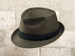 ダークオリーブ中折れ帽子