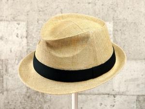 ナチュラルペーパー中折れ帽子