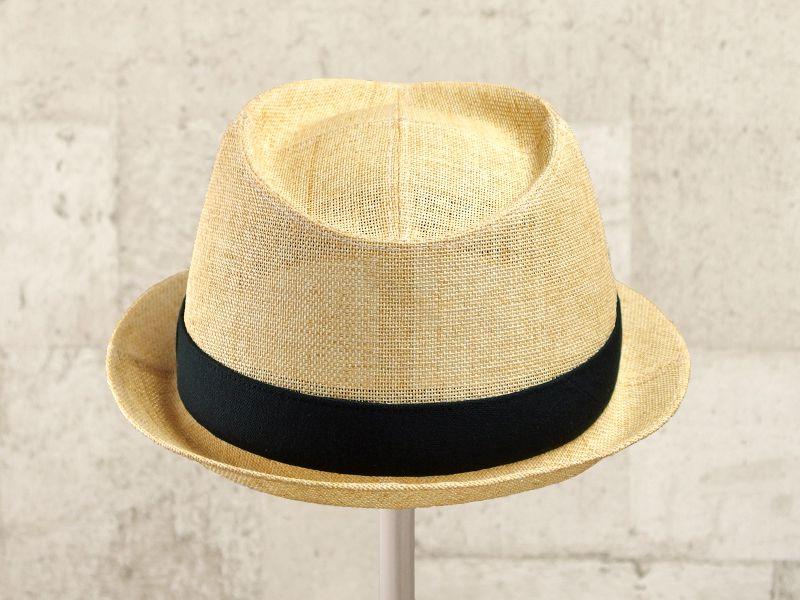 ナチュラルペーパー中折れ帽子3