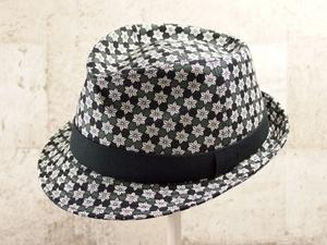 麻の葉中折れ帽子