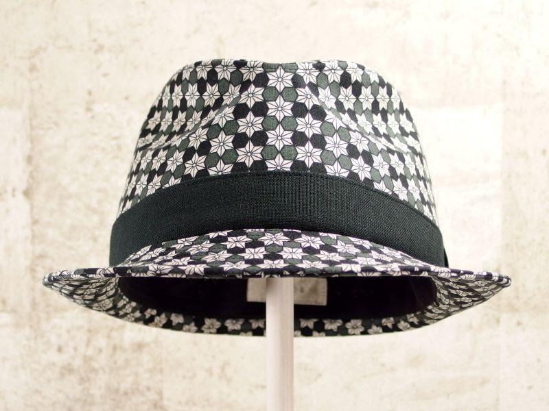麻の葉中折れ帽子2