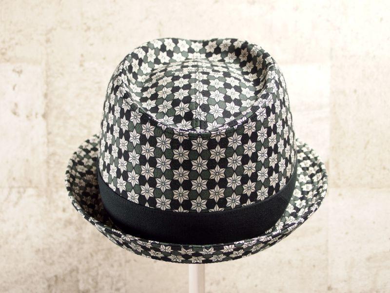 麻の葉中折れ帽子3