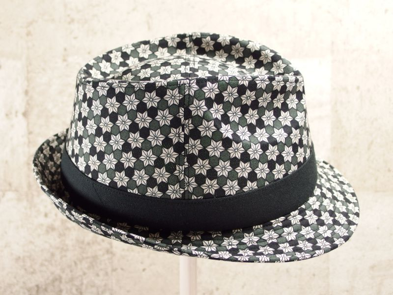 麻の葉中折れ帽子4