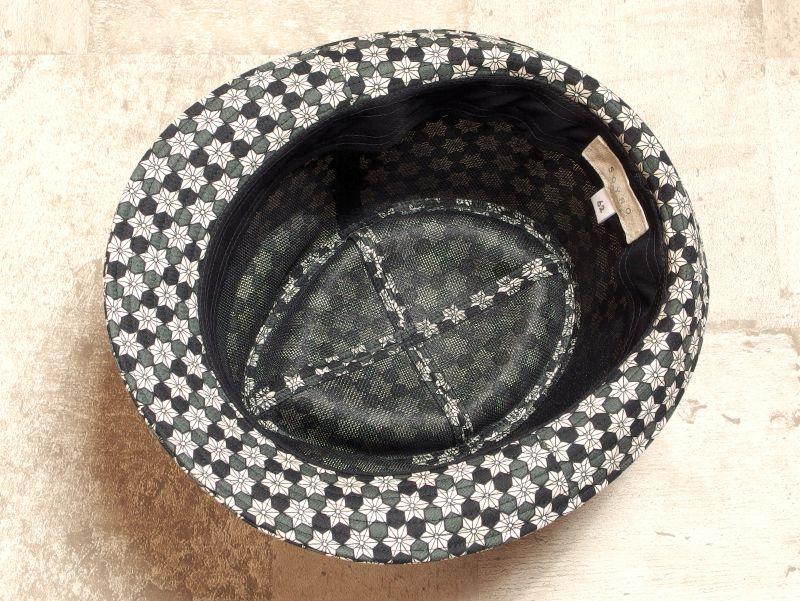 麻の葉中折れ帽子5
