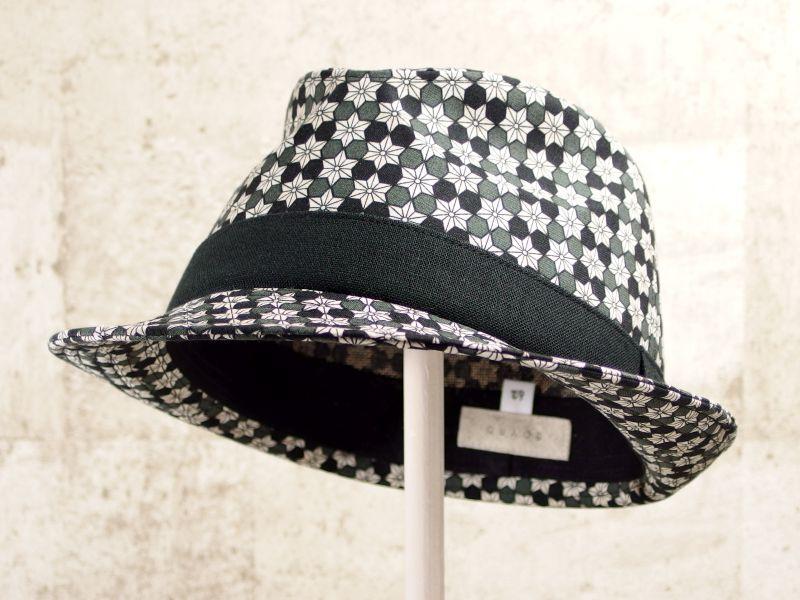 麻の葉中折れ帽子6