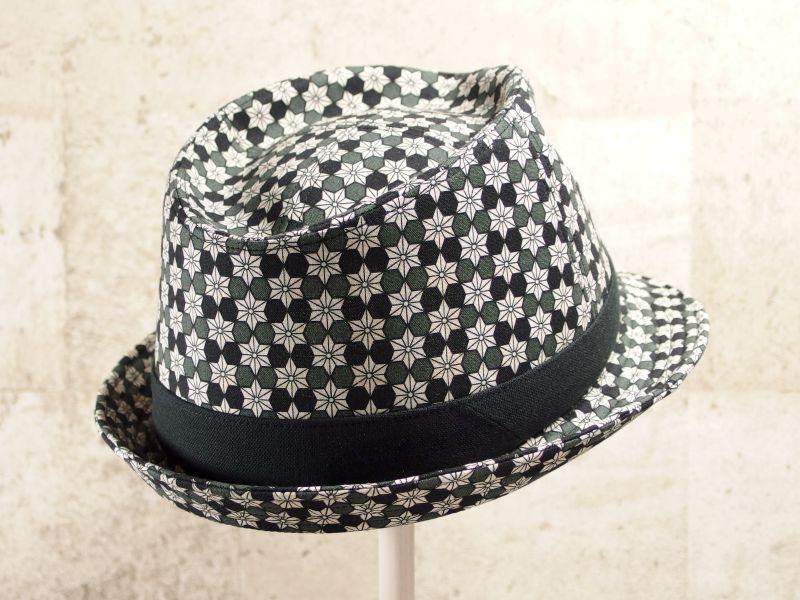 麻の葉中折れ帽子7