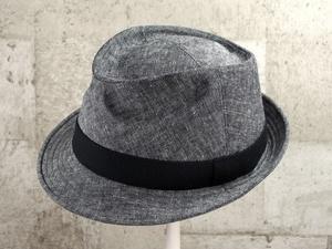 硫化染め中折れ帽子