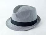 シンプルストライプ中折れ帽子