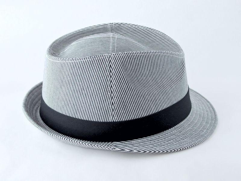 シンプルストライプ中折れ帽子5