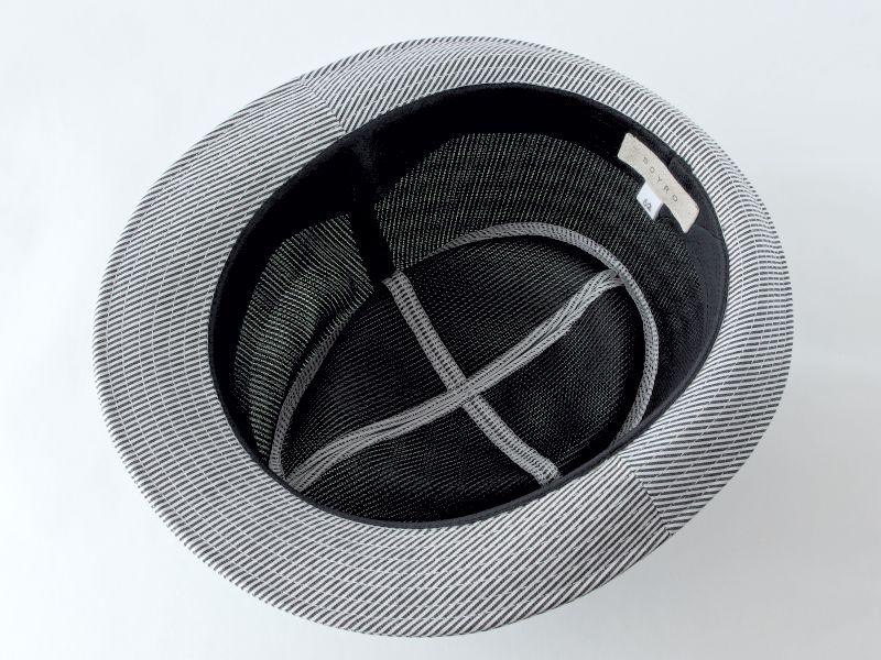 シンプルストライプ中折れ帽子6