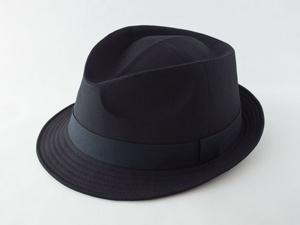 ブラック中折れ帽子
