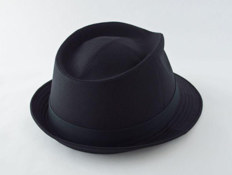 ブラック中折れ帽子2