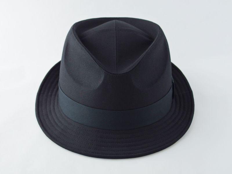 ブラック中折れ帽子3
