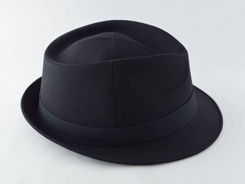 ブラック中折れ帽子5
