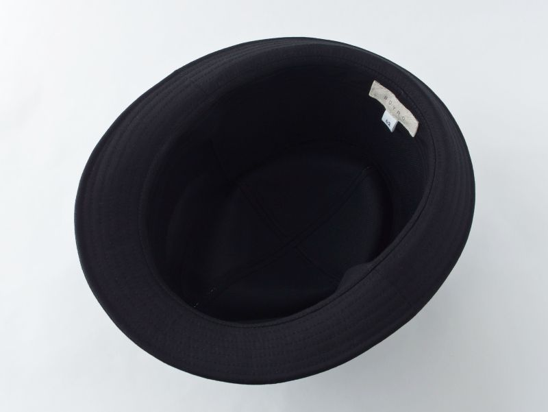 ブラック中折れ帽子6