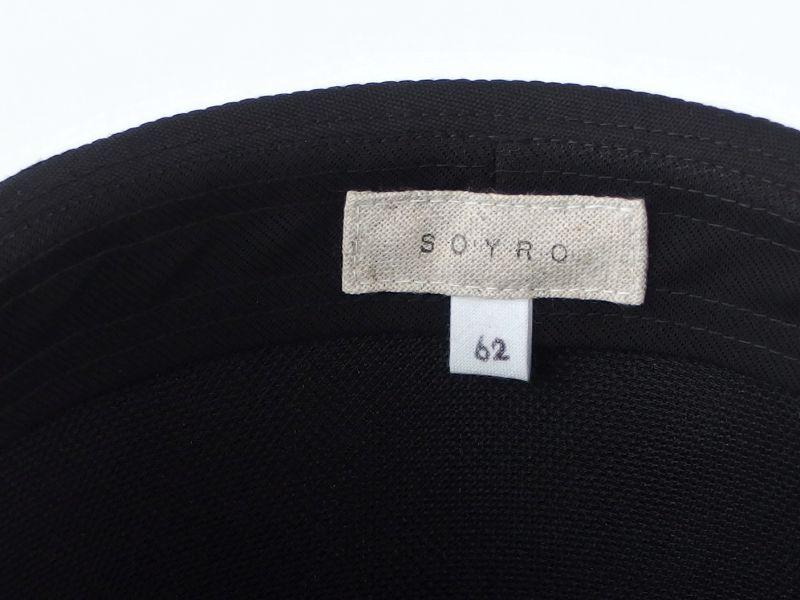 ブラック中折れ帽子8