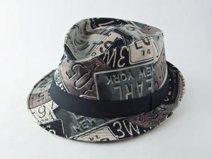 ナンバープレート中折れ帽子