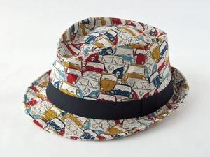 レトロカー中折れ帽子1