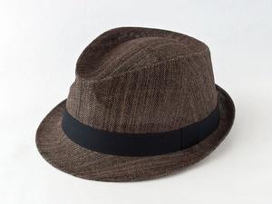 ペーパークロスダークブラウン中折れ帽子