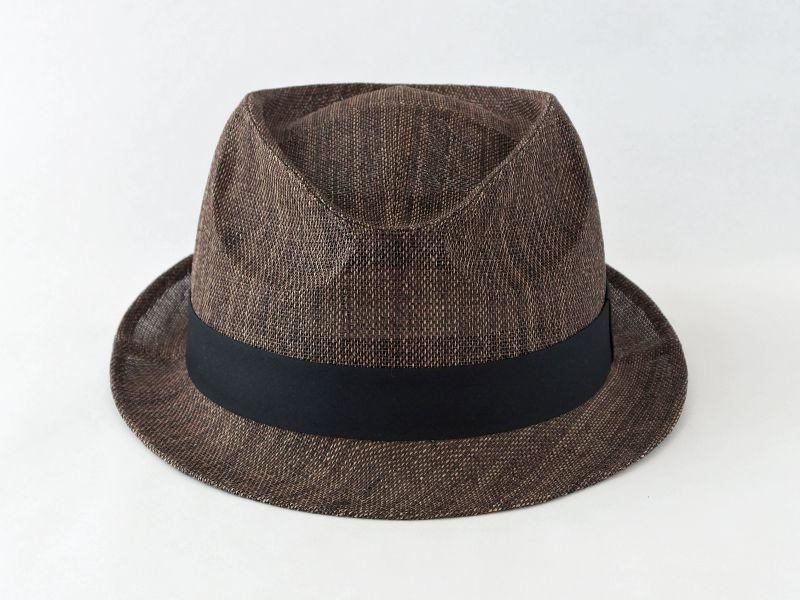 ペーパークロスダークブラウン中折れ帽子2
