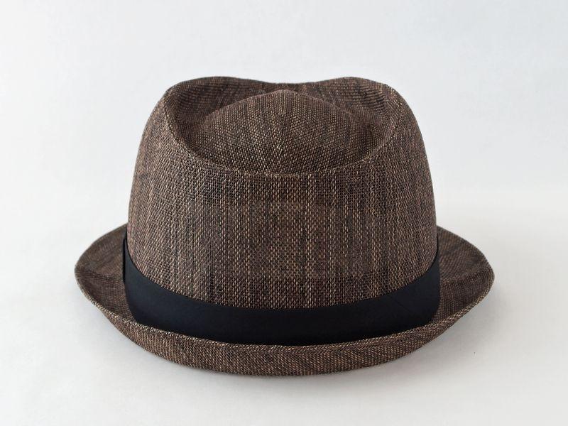 ペーパークロスダークブラウン中折れ帽子3