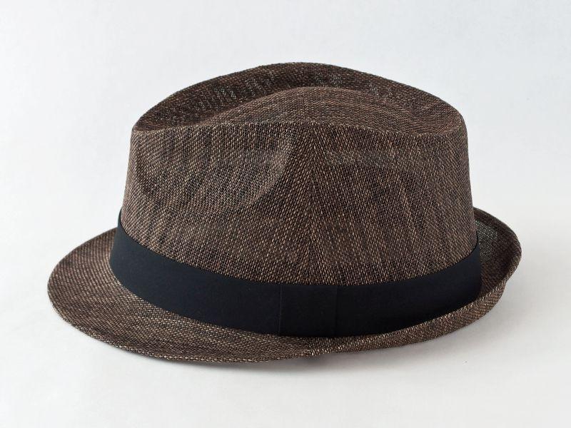 ペーパークロスダークブラウン中折れ帽子4