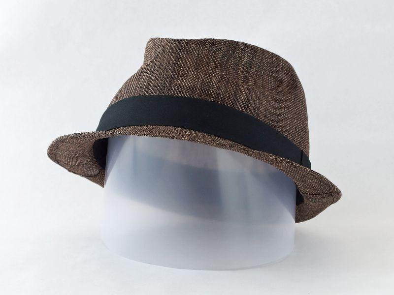 ペーパークロスダークブラウン中折れ帽子5