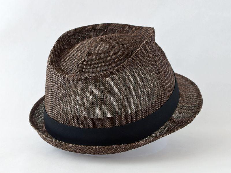 ペーパークロスダークブラウン中折れ帽子6