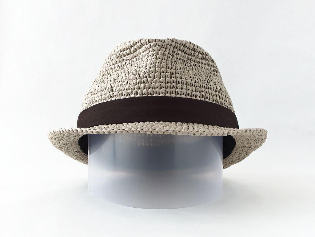 コーヒ染めペーパーヤーン中折れ帽子2