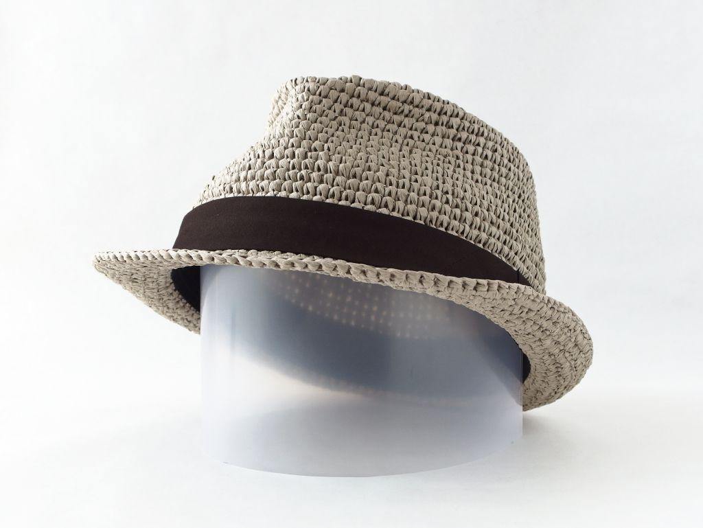 コーヒ染めペーパーヤーン中折れ帽子5