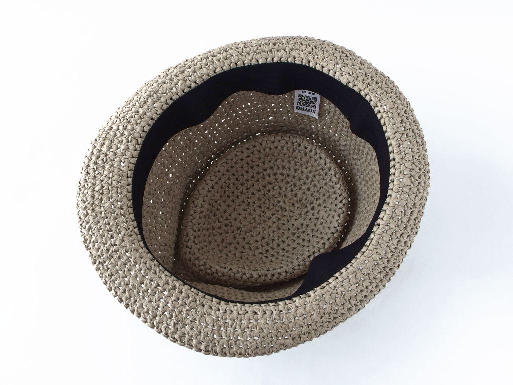 コーヒ染めペーパーヤーン中折れ帽子7