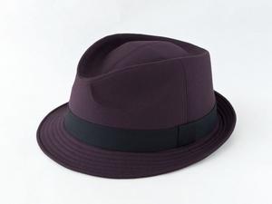 ダークパープル中折れ帽子