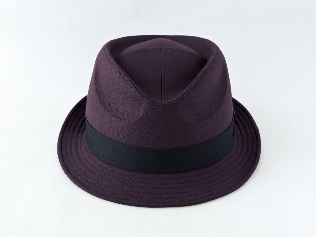 ダークパープル中折れ帽子2